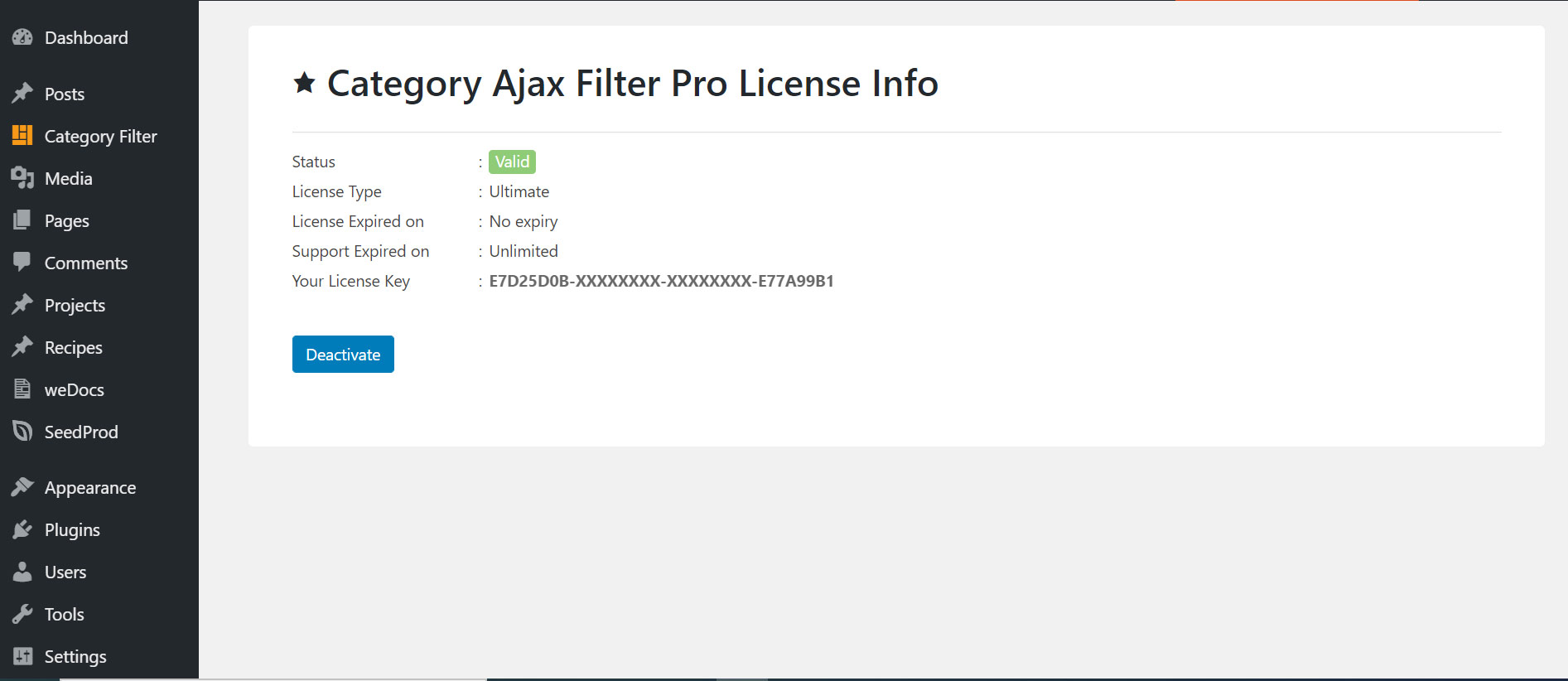 Activated-license-screen